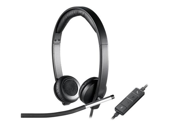 Headset H650e stereo USB sort