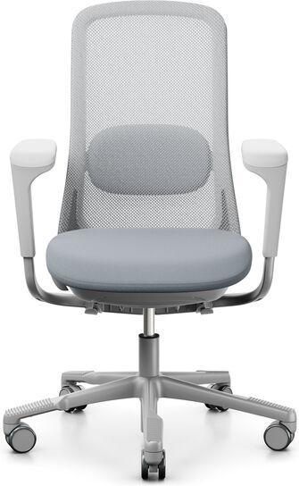 Kontorstol HÅG SoFi mesh 7500, sølv understell, grå tekstil