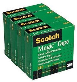 Kontortape Scotch Magic 810 19mmx33m 4pk